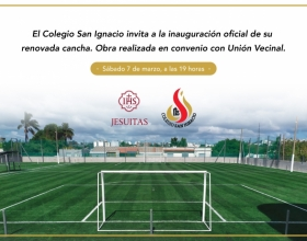 Invitación a la inauguración oficial de la renovada cancha del Colegio